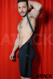SINGLET ATTACK BLACK RAINBOW