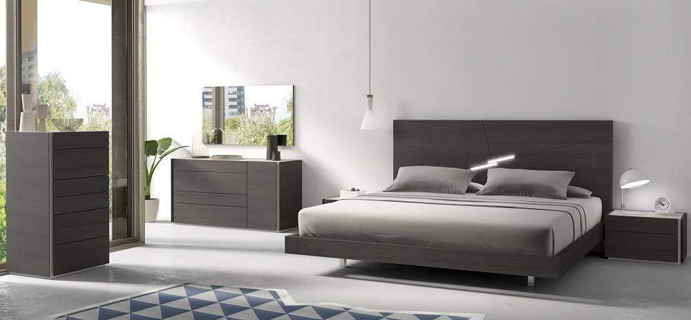 J and M Furniture Bedroom Sets Faro Premium Bedroom Set in Wenge with Light Grey