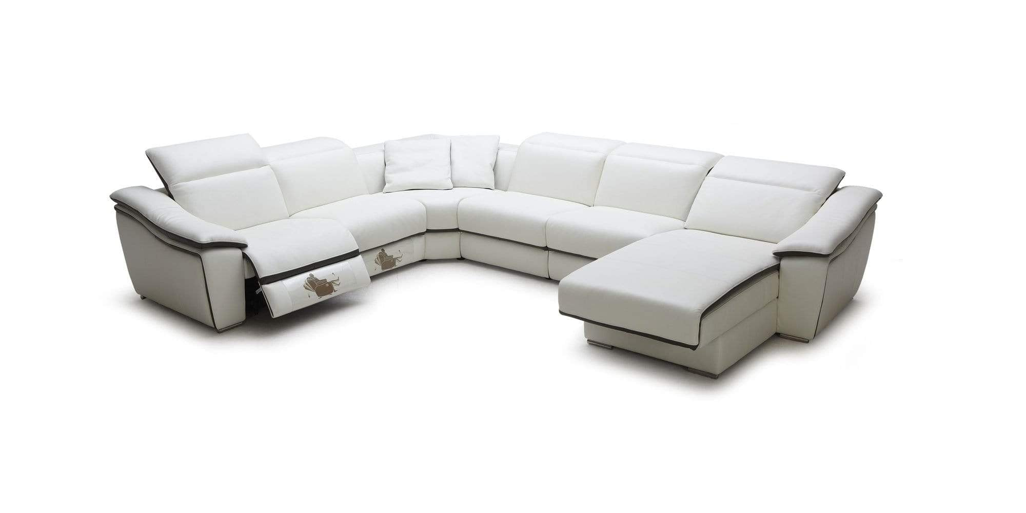 J and M Furniture Couches & Sofa 1728 Motion Leather Sectional