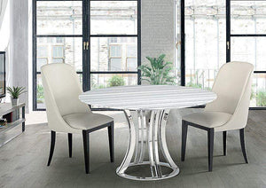 Stone International Dining Room Aurora Steel Round (8197/55)