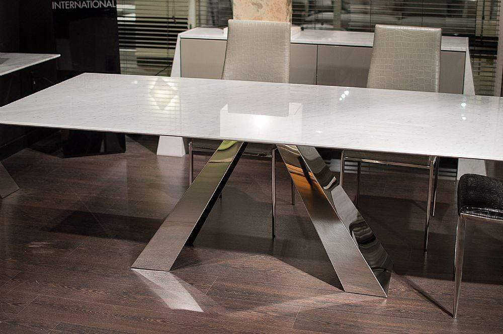 Stone International Dining Room Butterfly Steel Table 9786