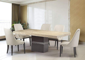 Stone International Dining Room Lugano Marble Dining Table - Thick Edge (4216/N)