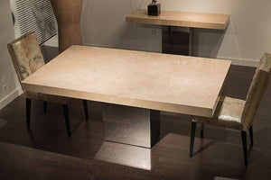 Stone International Dining Room Manhattan Marble Dining Table (3266/SQ)