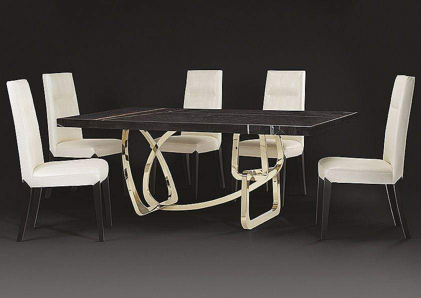 Stone International Dining Room Tangle Boxed Marble Table (6516/M)