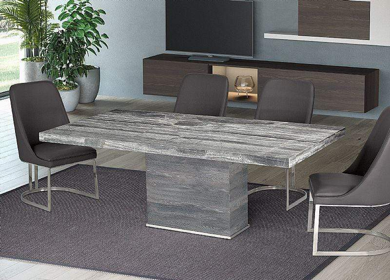 "Stone International Saturn Extra Light Marble Table (5916 - 79"" x 40"")"