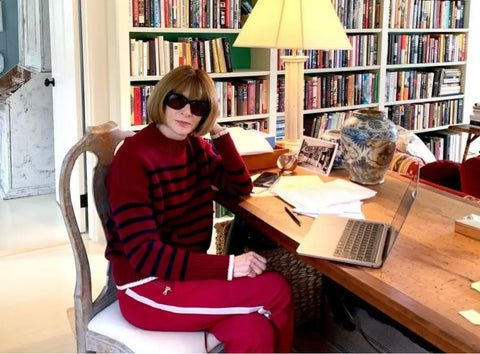 anna wintour in a tracksuit