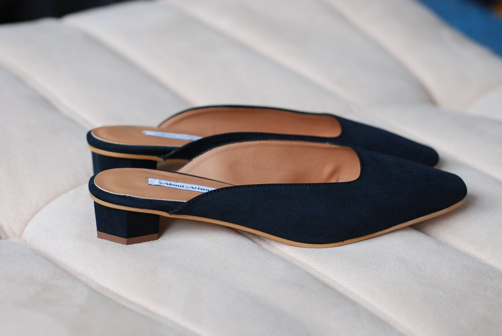 About Arianne - Cassini Vegan slip on mules
