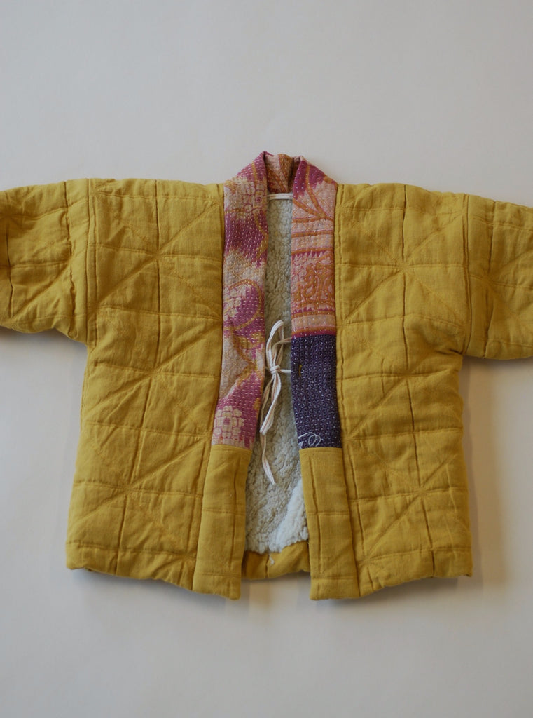 Aomamé - Children's winter haori jacket Kiku