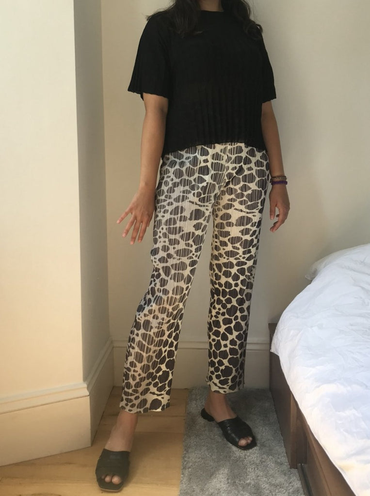 Vintage - Issey Miyake Pleats Please monochrome trousers