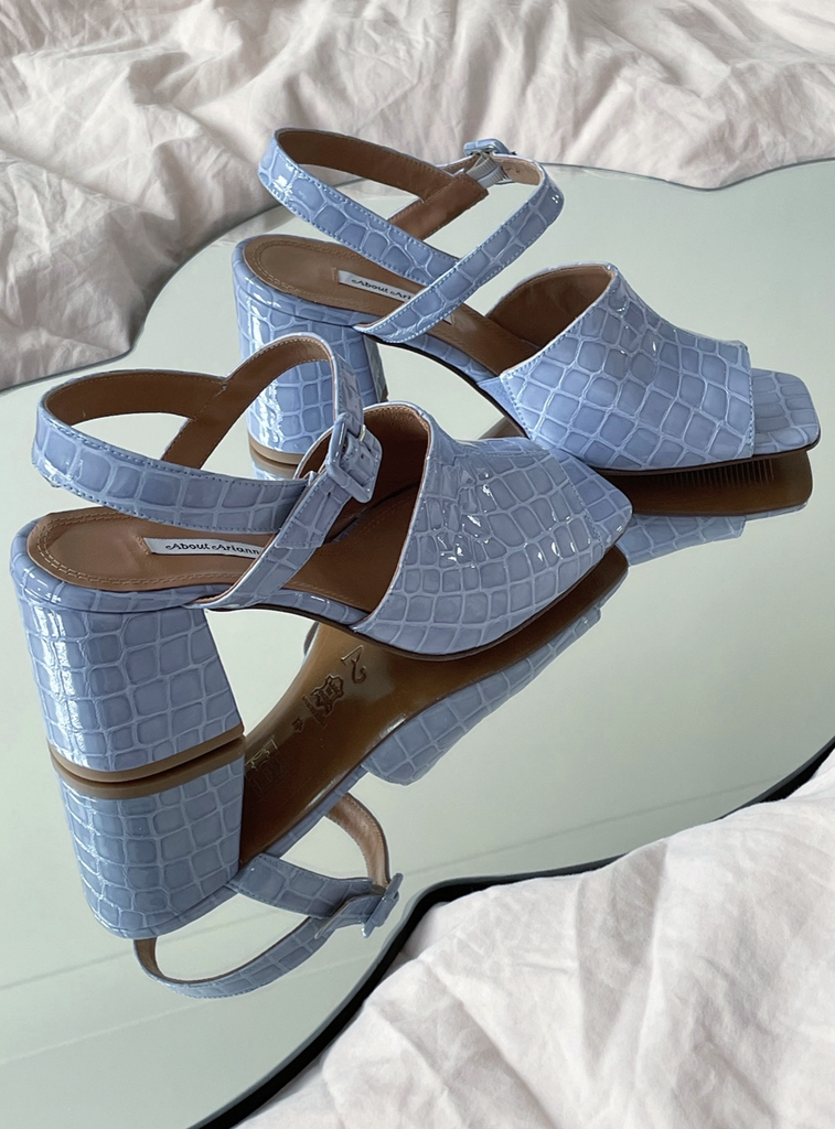 About Arianne - Rita Bluebell croc effect sandals
