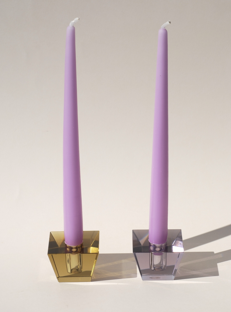 Mid-Century Murano glass candle holder set