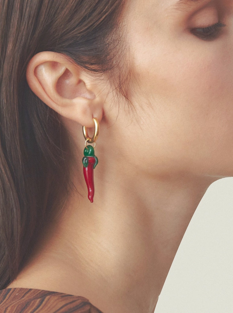 Sandralexandra - Red Jalapeño pepper earrings