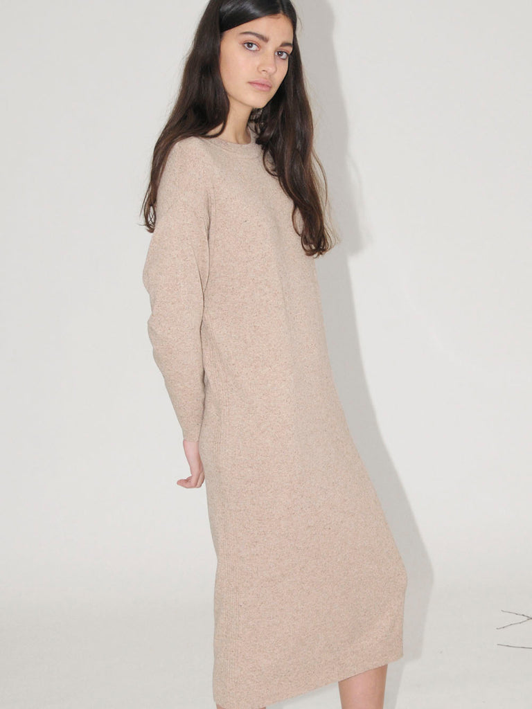 Diarte - DODDY beige knitted dress