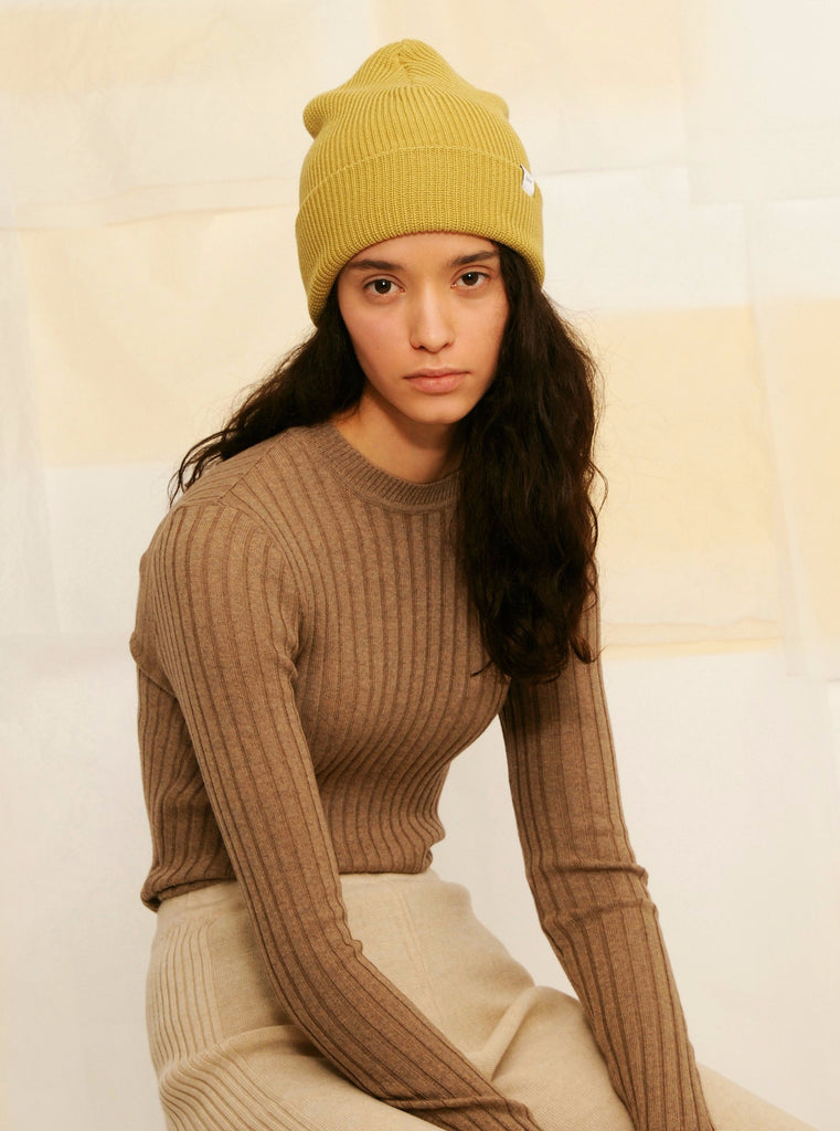 Diarte - Perfect Beanie in mustard