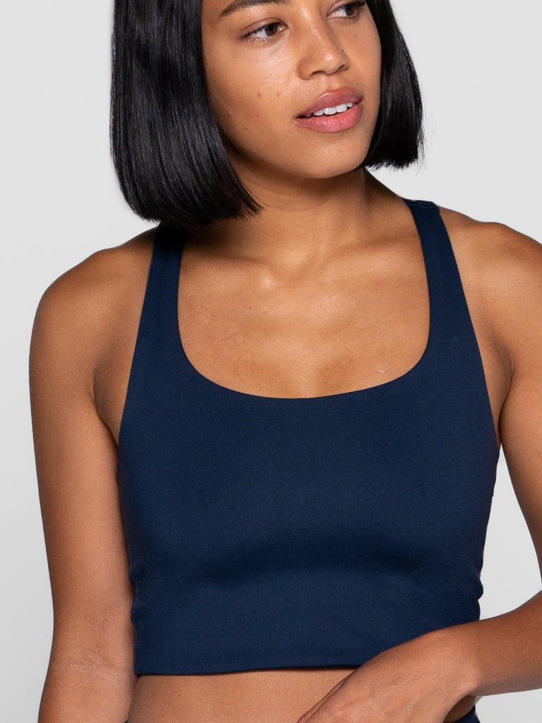 GIRLFRIEND COLLECTIVE paloma crop top compressive bra - Midnight