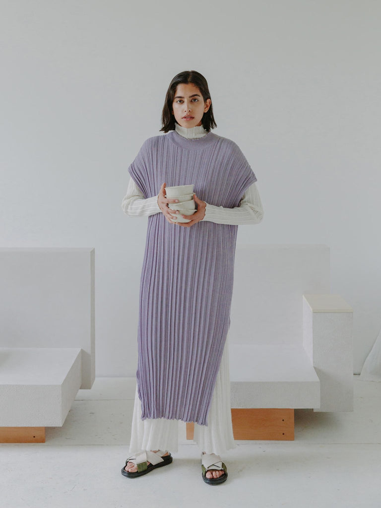Rus - Higasa pleats dress Lavender