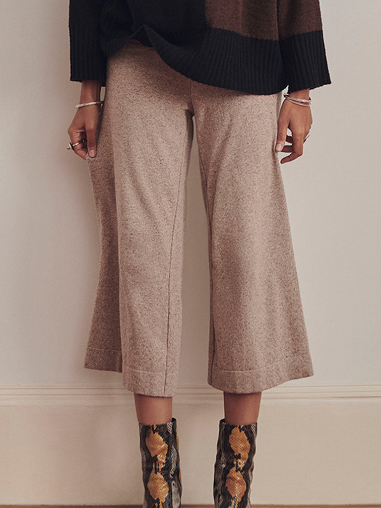 Diarte - AURA wide leg knitted trousers