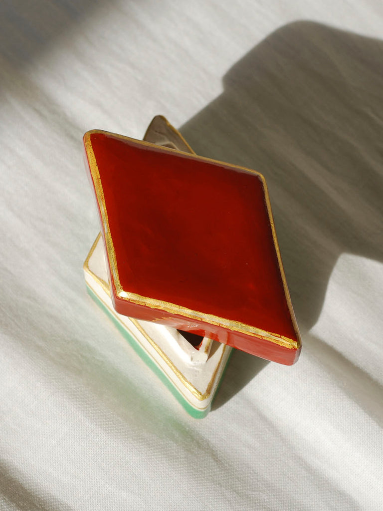Mini Japanese ceramic trinket box