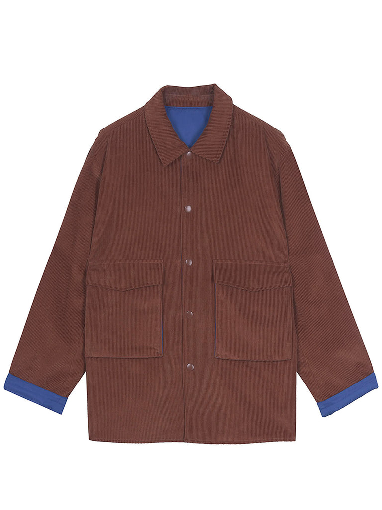 NEUL - Unisex reversible corduroy  jacket brown