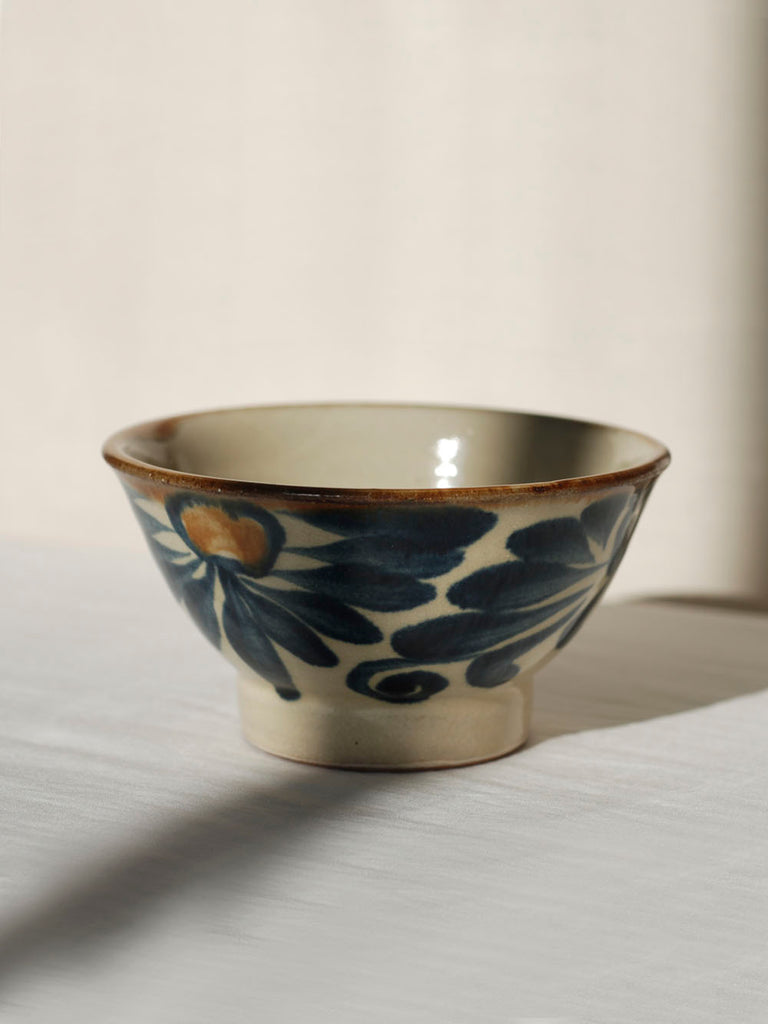 Japanese ceramics handmade in okinawa - Rice bowl