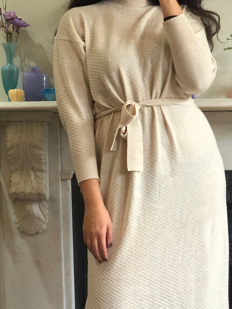 Diarte - Olaya Merino knit dress ivory