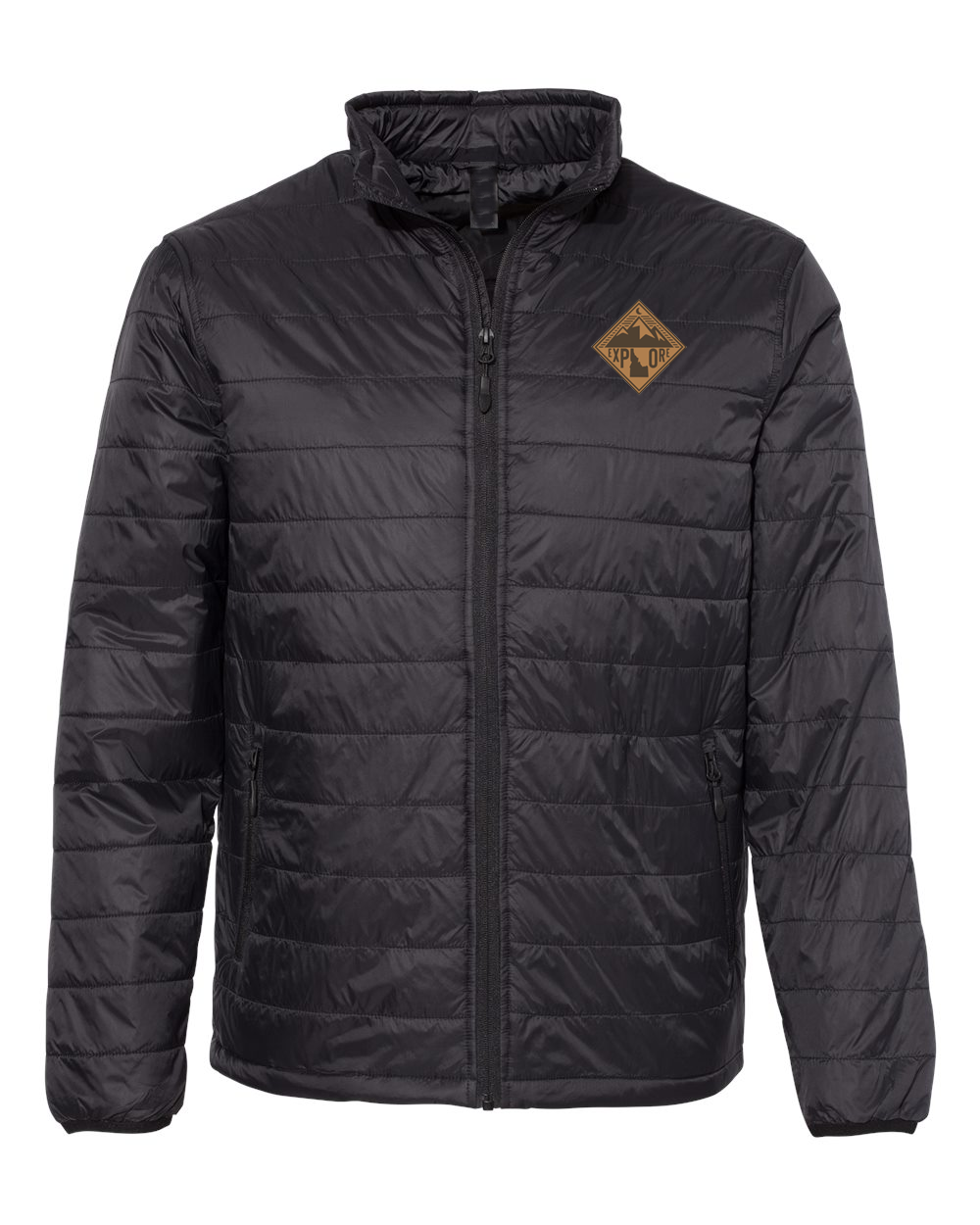 Mens | Puffer Jacket | Mountains Patch