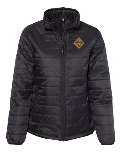Womens | Puffer Jacket | Mountains Patch