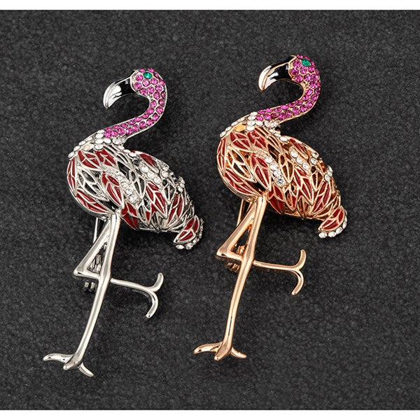 vintage brooch for women flamingo ladies brooch unique brooch