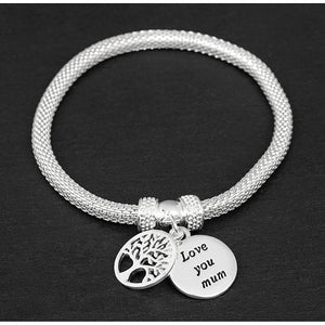 Silver Bracelet Family Tree Bracelet For Women Fashion Jewelry