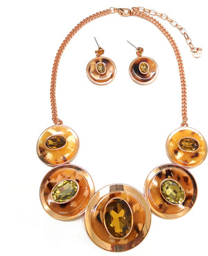 Coffee Necklace and Earring Fashion Jewelry Set Unique Jewelry For Women