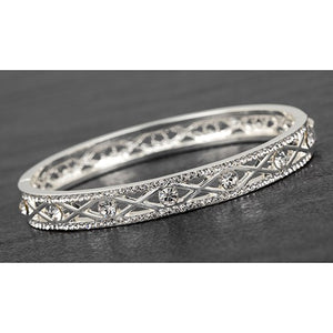 Silver Bracelet For Women Diamond Bangle Friendship Bracelet Ladies Bracelet