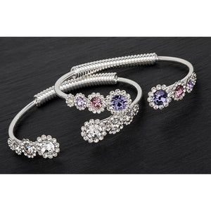 Silver Bracelet For Women Swarovski Bracelet Friendship Bracelet Ladies Bracelet Crystal Bracelets