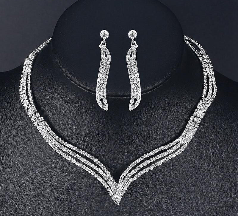 wedding jewelry, bridal jewelry set, fashion accessories, bridesmaid necklace set