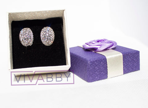 Diamond Inspired Stud Earrings - Fashion Jewelry Accessory