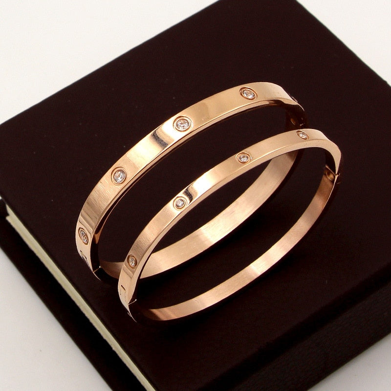 Trendy Bracelets, Gold Plated Beautiful Fashion Bangles, Cubic Zirconia Silver Plated Bracelet