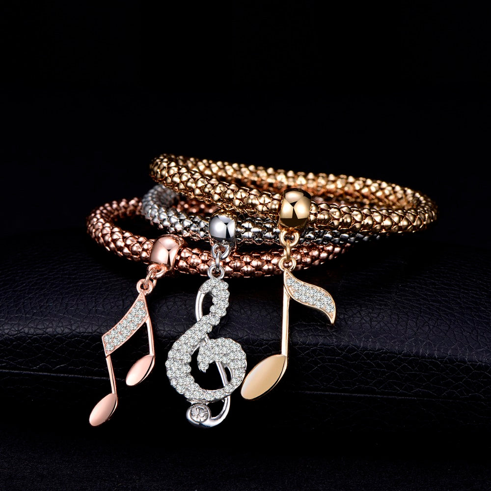 charm bracelet for women ladies bracelets gold bracelets musical charm bracelet fashion jewelry