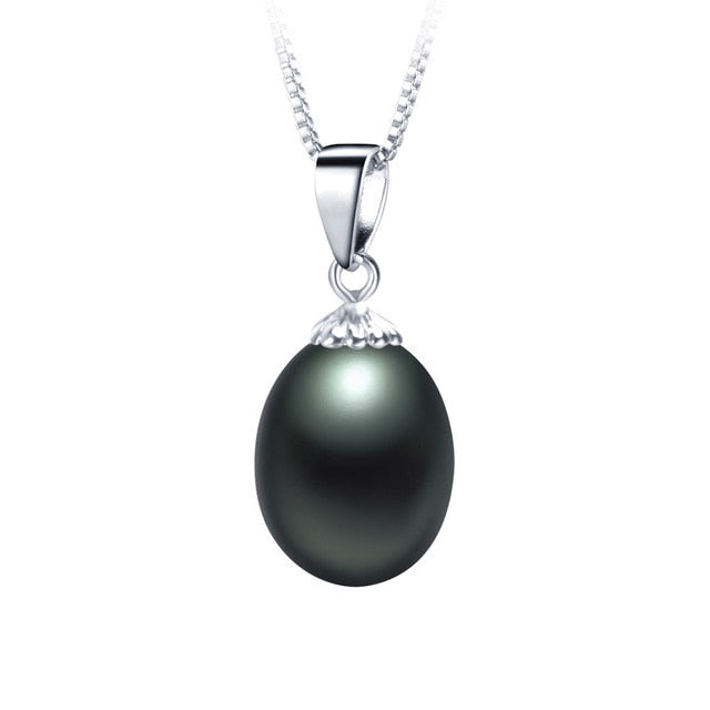 vivabby black pearl and silver necklace