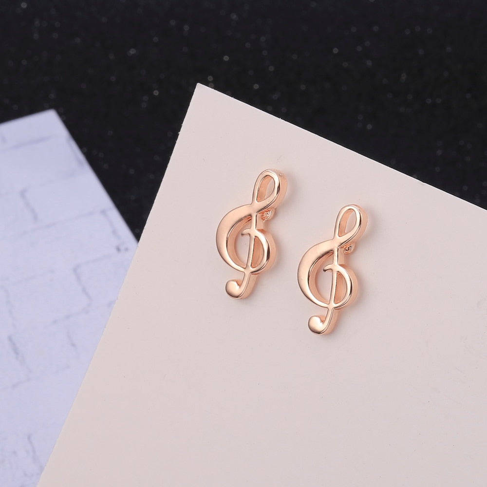 Cute Musical Note Stud Earrings