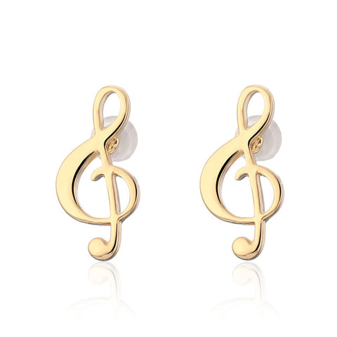 vivabby music note stud earrings