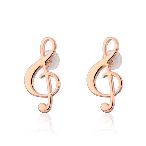 vivabby ladies earrings fashion earrings rose gold earrings music note earrings