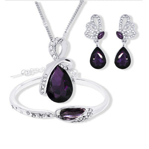 lavender wedding jewelry purple wedding jewelry vivabby ladies necklace earrings for women