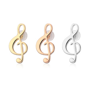 vivabby musical note studded earrings