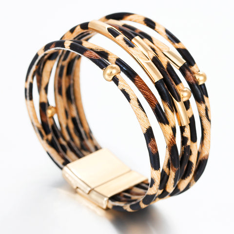 Vivabby Trendy Multilayer Leopard Bracelets