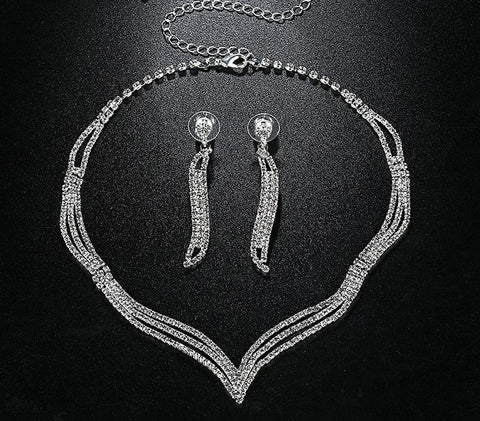 Charming Rhinestone Bridal Jewelry Sets