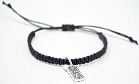Life Without Ed® Macrame Bracelet and Charm