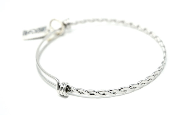 Life Without Ed® Silver Bracelet and Charm