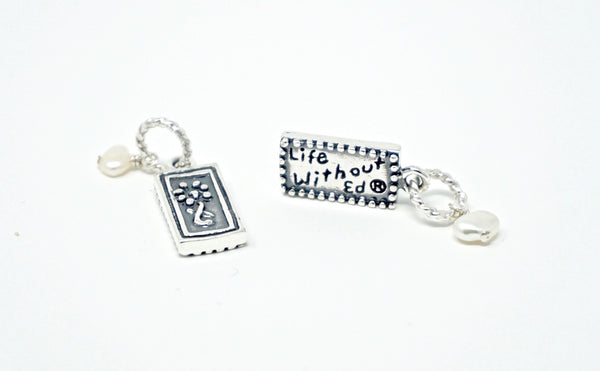 Life Without Ed® Sterling Silver Necklace and Charm
