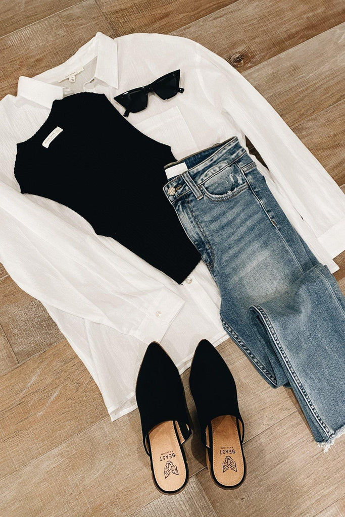 The Button-Down Blouse in White