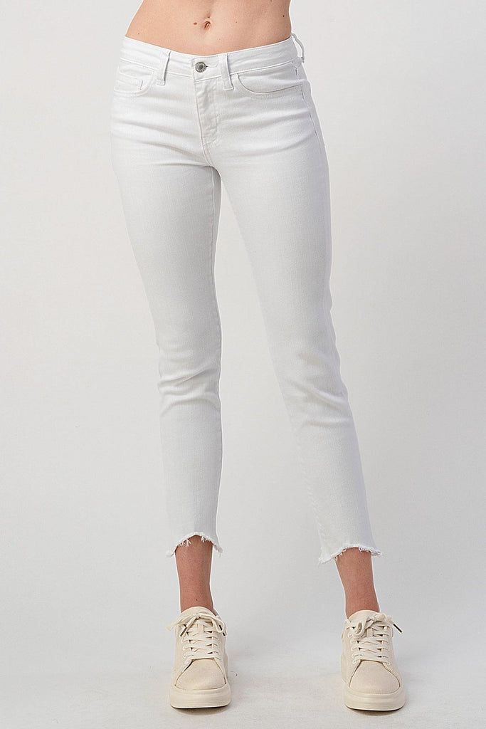 White Mid-Rise Skinny Jeans - No Rest For Bridget