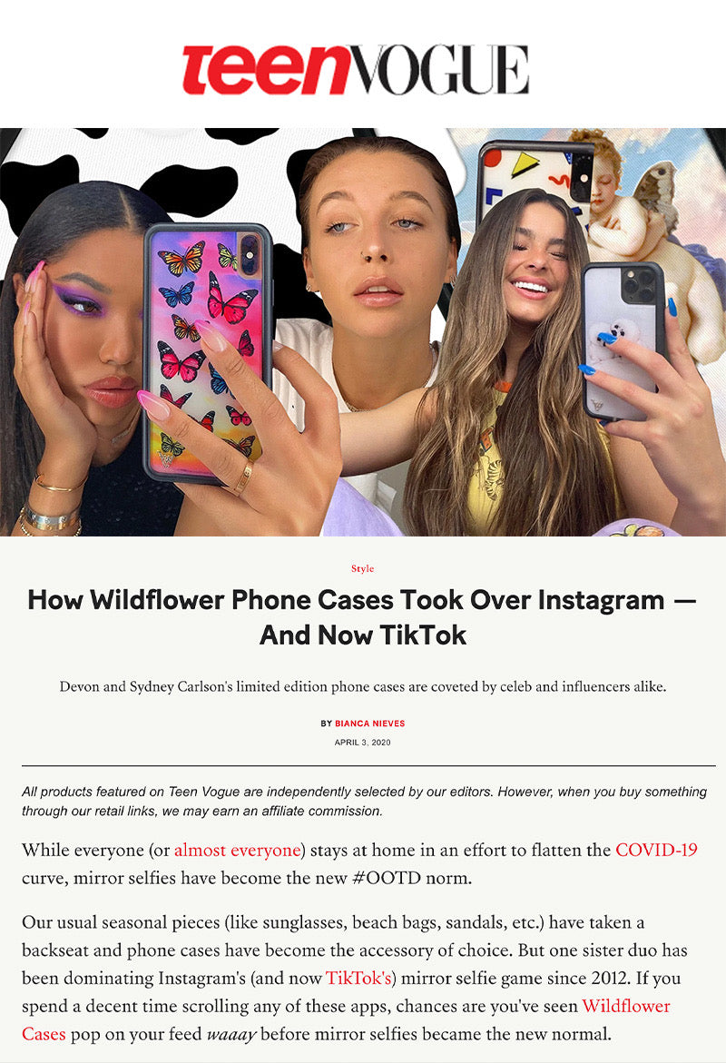 How Wildflower Phone Cases Took Over Instagram — And Now TikTok